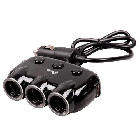 Тройник для автомобильной розетки RITMIX RM-3123DC black [2 USB-выхода]
