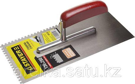 """Гладилка STAYER """"MASTER"""" стальная с деревянной ручкой, зубчатая, 4х4мм, фото 2"""