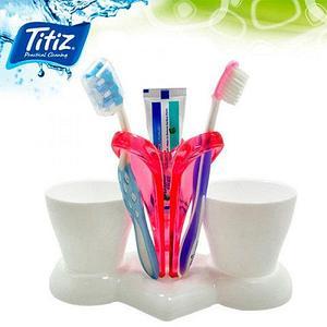 Подставка для зубных щеток «Трио» Titiz TP-572 (Розовый)