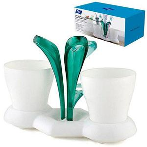 Подставка для зубных щеток «Трио» Titiz TP-572 (Изумрудный)