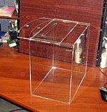 Ящик для сбора денег 300х200х300 из оргстекла 3 мм прозрачное, фото 2