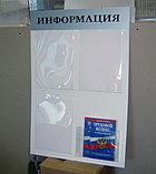 Стенд информационный на 4 кармана без профиля, фото 2