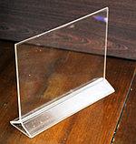 Менюхолдер тейбл тент А4 горизонтальный, фото 2