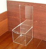 Ящик для пожертвований 215х215х200 500 с карманом А4, фото 4