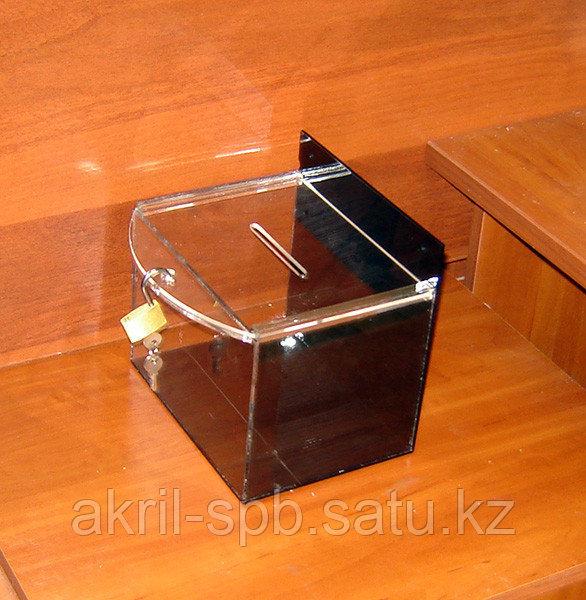 Ящик для пожертвований 200х150х150 185 черный