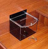 Ящик для пожертвований 200х150х150 185 черный, фото 2