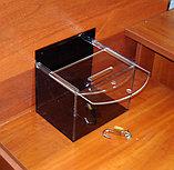 Ящик для пожертвований 200х150х150 185 черный, фото 3