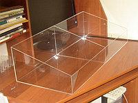 Корзина-короб распродажная 800х350х200/100 мм 2 отделения