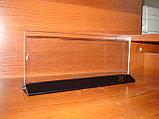 Меню-холдер тейбл тент 113х300 черное основание, фото 2