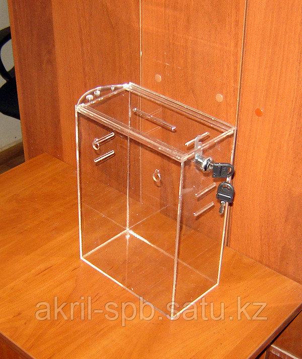 Ящик для пожертвований 215х120х300 с прорезями под ремень
