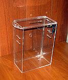 Ящик для пожертвований 215х120х300 с прорезями под ремень и карманом А4, фото 3