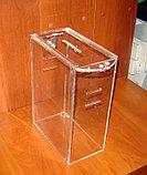Ящик для пожертвований 215х120х300 с прорезями под ремень и карманом А4, фото 4