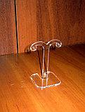 Подставка под серьги №2 прозрачная 60 мм, фото 3