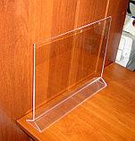Менюхолдер тейбл тент А3 горизонтальный, фото 5