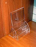 Менюхолдер А5 L-обр вертикальный с 2-мя карманами под визитки или буклеты, фото 4