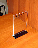 Менюхолдер тейбл тент А5 вертикальный с черным основанием, фото 2