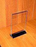 Менюхолдер тейбл тент А5 вертикальный с черным основанием, фото 4