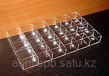 Короб 24 ячейки 40х50х30 для колец прозрачный