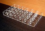 Короб 24 ячейки 40х50х30 для колец прозрачный, фото 2