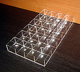 Короб 24 ячейки 40х50х30 для колец прозрачный, фото 3
