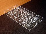 Короб 24 ячейки 40х50х30 для колец прозрачный, фото 4