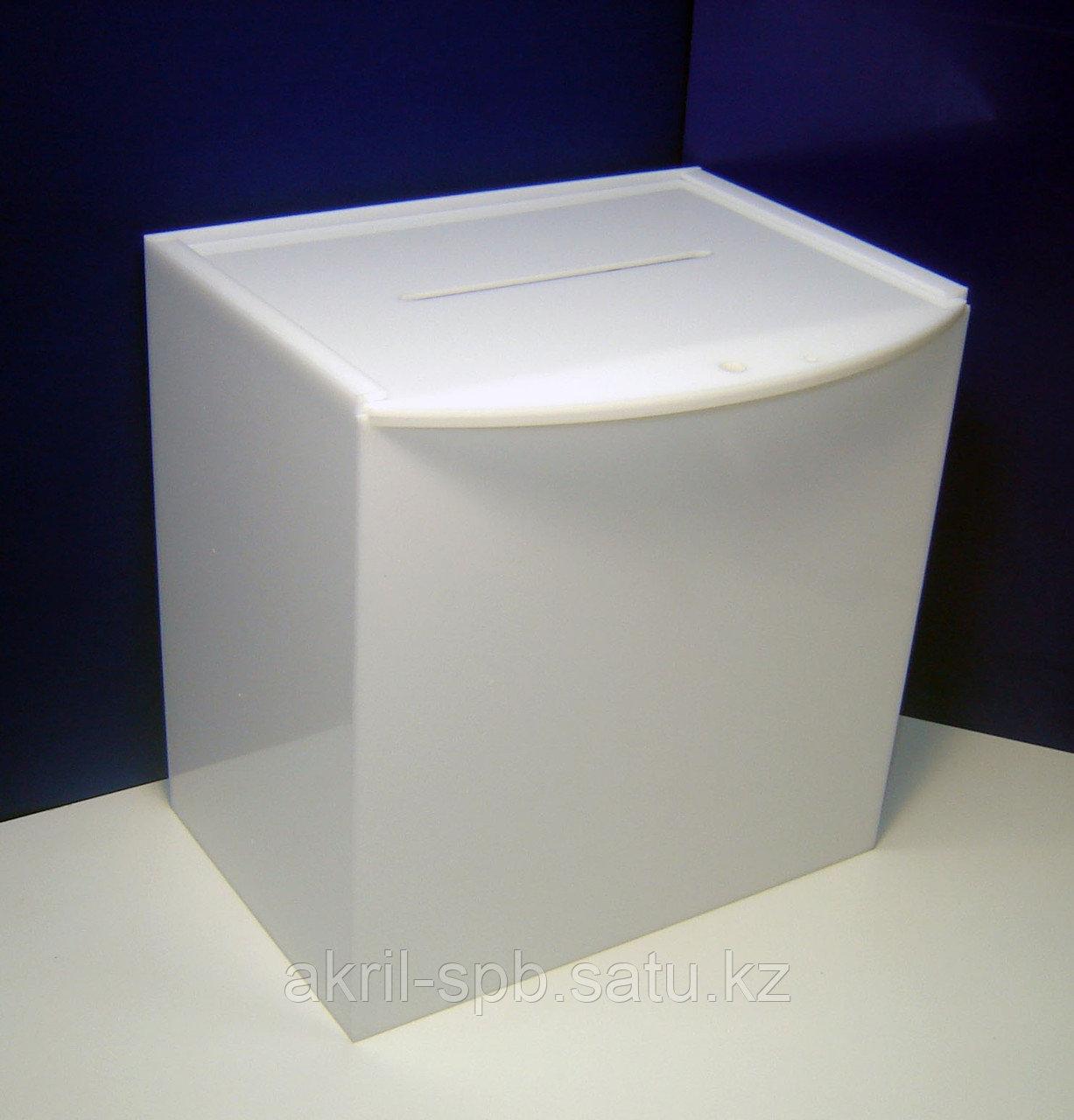 Ящик для анкет 300х200х300, оргстекло 3мм молочное