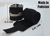 Боксерский бинт HAYABUSA черный 2 штуки 3.5 м (Made in Pakistan)