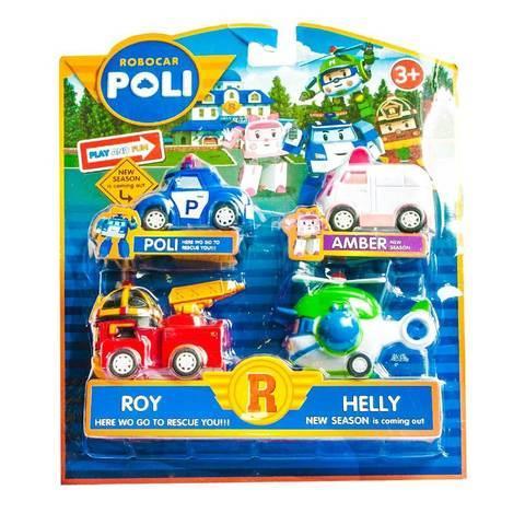 Набор машинок «Робокар Поли и его друзья»