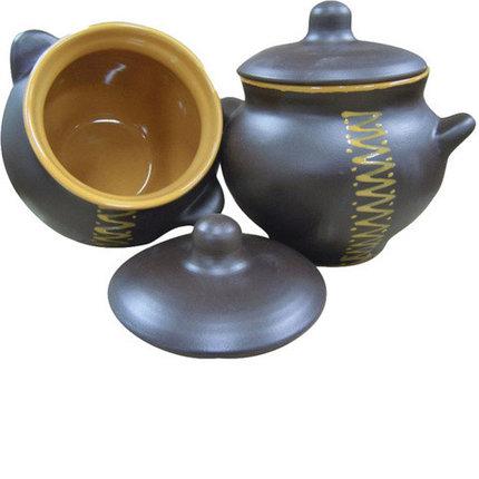 Набор горшочков для жаркого «Четыре чугунка» Борисовская керамика, фото 2