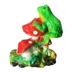 Фигурка садовая декоративная «Лягушка на мухоморе»
