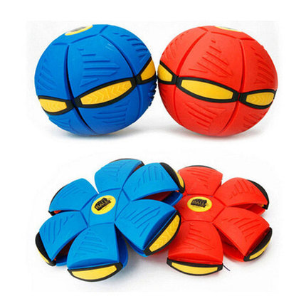 Плоский мяч или летающий дискошар «НЛО» для игр на улице с фрисби, фото 2