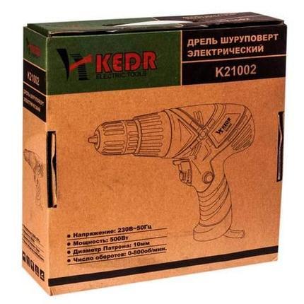 Дрель-шуруповерт электрический KEDR K21002 500Вт, фото 2