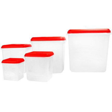 Набор больших контейнеров для хранения Chanel PLAST [5 шт.], фото 2