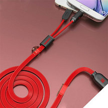 Кабель USB для зарядки и синхронизации 2-в-1 Remax RC-025t для iPhone, iPad  + microUSB, фото 2