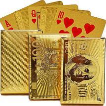 Колода игральных карт под золото Premium Gold Standard Poker, фото 2