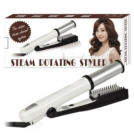 Стайлер-утюжок паровой для укладки волос Steam Rotating Styler 2-в-1