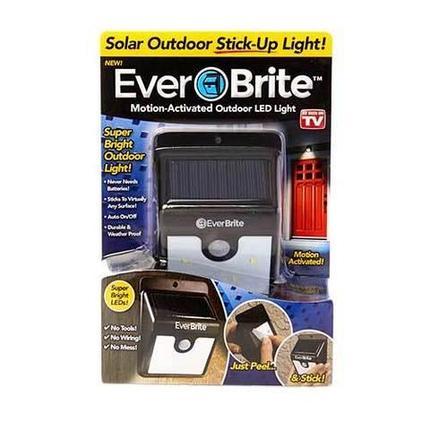 Светильник LED уличный на солнечных батареях с датчиком движения EverBrite, фото 2