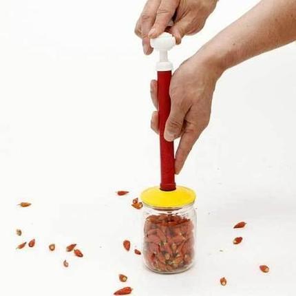 Набор вакуумных крышек для консервирования и хранения продуктов с насосом «ВАКС», фото 2