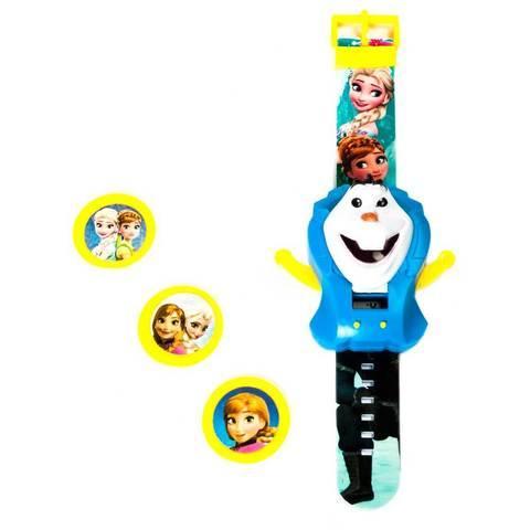 Часы электронные детские наручные метатель дисков «Frozen Fever»