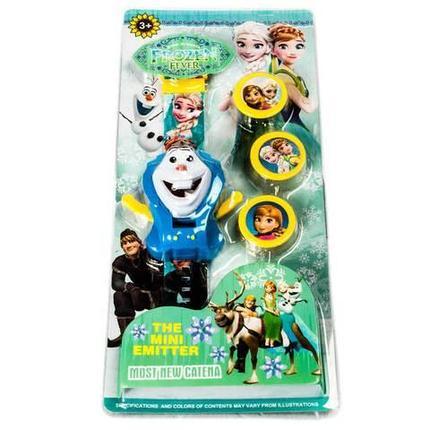 Часы электронные детские наручные метатель дисков «Frozen Fever», фото 2