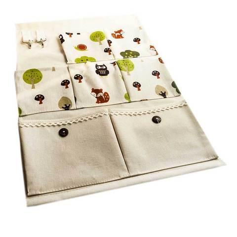 Органайзер с кармашками для мелочей настенный «Веселый лес»