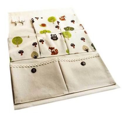 Органайзер с кармашками для мелочей настенный «Веселый лес», фото 2