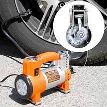 Компрессор воздушный металлический 12 В 150 Вт с фонарем PHANTOM РН2033, фото 2