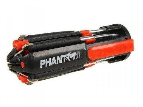 Отвертка многофункциональная 8 в 1 с фонарем PHANTOM PH1110, фото 2