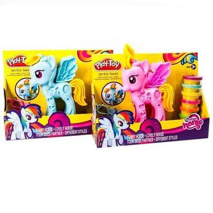 Игровой набор с пластилином Play-Toy «Моя маленькая пони», фото 2