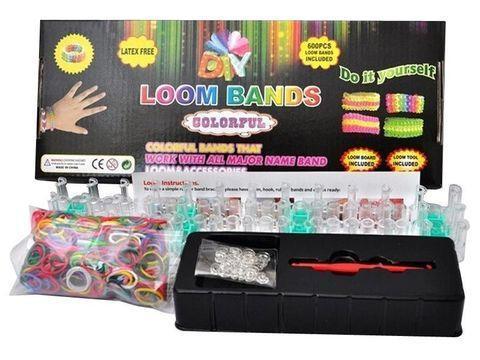 Набор для плетения браслетов из резинок Loom Bands + большой станок, фото 2