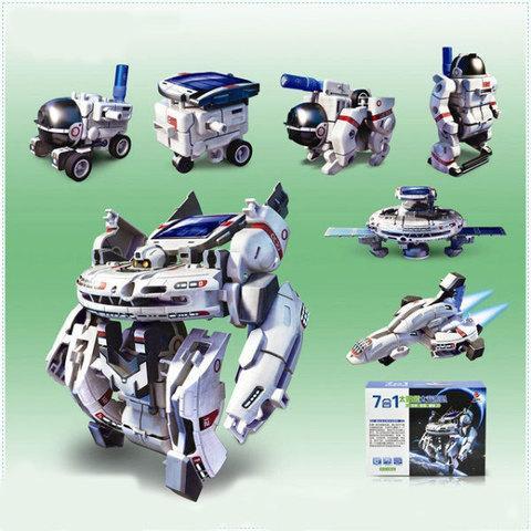Конструктор роботов 7 в 1 «Космический флот» на солнечной батарее