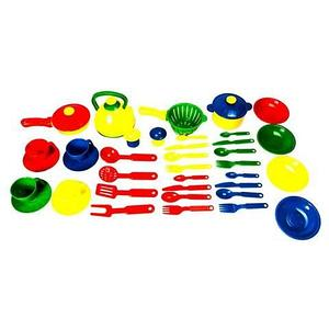 Набор детской игрушечной посуды «Поварёнок» KSC 22-114 [38 предметов]