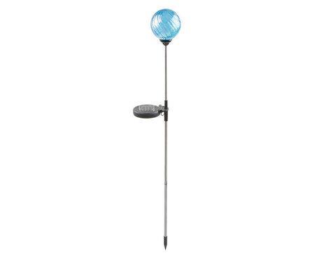 Светильник светодиодный для сада ENGARD «Хрустальный шар» на солнечной батарее (Голубой)