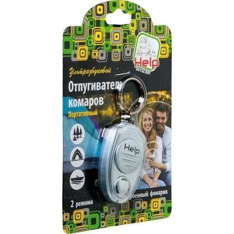 Отпугиватель комаров портативный со встроенным фонариком «Help» [2 режима]